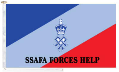 Ssafa soldiers sailors airmen and families association flag with rope and toggle 5 x3 150cm x 90cm 51788 p
