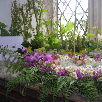 one of the wild flower displays inside the church