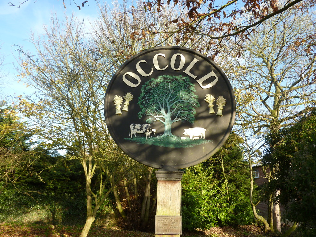Occold village sign