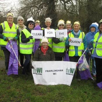 A group of willing volunteers donned their day-glo vests and rubber gloves and went litter picking around Framlingham.