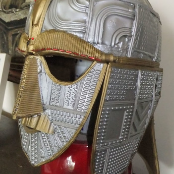 A Helmet inspired by Sutton Hoo- made entirely from recycled materials