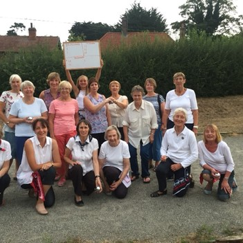 Rushmere Evening and Bealings WIs joined us for a Boules match.
