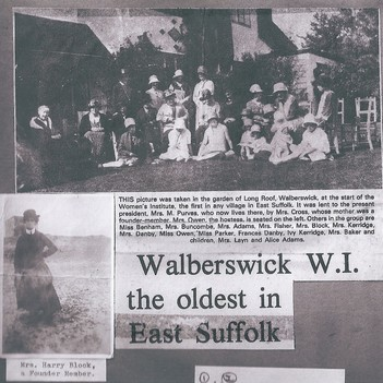Walberswick was the first WI in East Suffolk